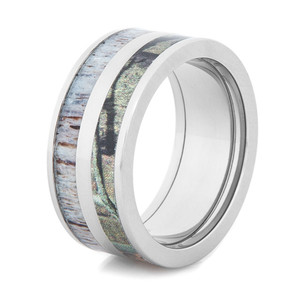 Camo & Deer Antler Ring