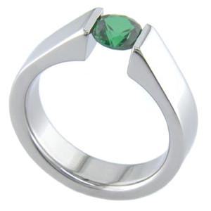Balanced Tension Set Titanium Ring