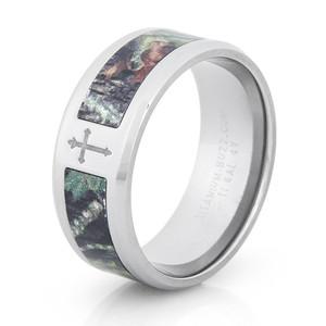Simple Camo Cross Ring