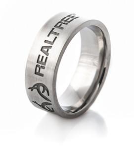 Carved Antler Emblem Realtree Ring