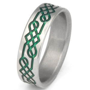 Titanium Celtic Irish Ring