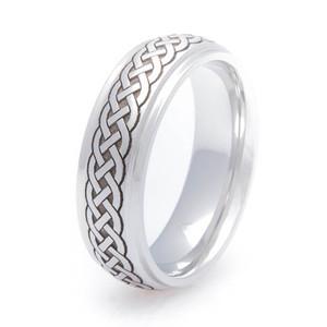 Cobalt Celtic Braid Ring