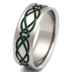 Titanium Irish Knot Ring