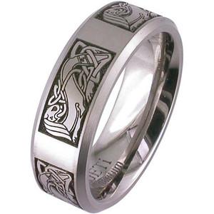 Laser Engraved Celtic Wedding Band