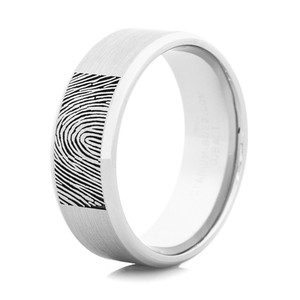 Men's Cobalt Fingerprint Ring