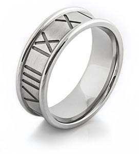 Cobalt Roman Numeral Ring