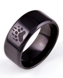 Bear Tracks Black Ring