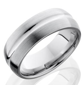 Men's Cobalt Chrome Ring with Center Groove