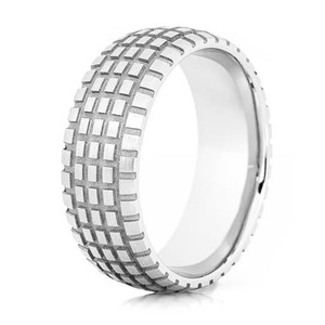 Men's Titanium Dirt Bike Wedding Ring