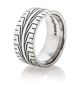 Men's Titanium Goodyear Assurance Tread Ring