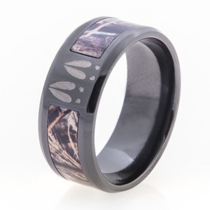 Deer Tracks & Camo Ring