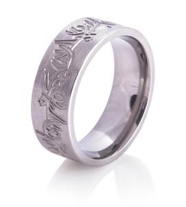 Carved Deer Antler Ring
