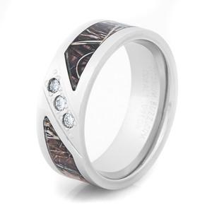 Three Stone Diamond Camo Ring