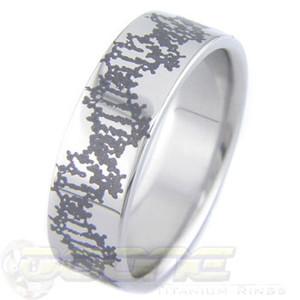 Titanium Laser Engraved DNA Ring