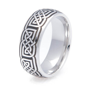 Dome Cobalt Celtic Ring