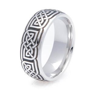 Dome Cobalt Celtic Ring