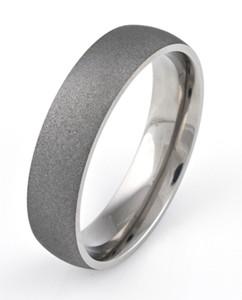 Men's Dome Profile Titanium Sandblasted Ring