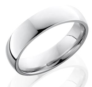 Men's Dome Profile Cobalt Chrome Wedding Ring