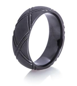 Crossed Up Matte Black Ring