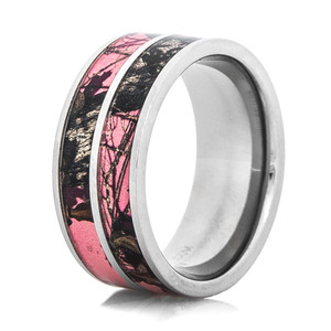 Dual Pink Mossy Oak Ring