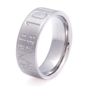 Men's Gunmetal Finish Titanium Duck Wedding Band