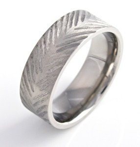 Feather Style Rustic Band