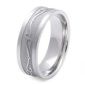 Fish Hook Wedding Ring