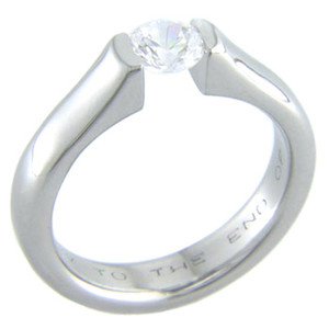 Fusion Tension Set Titanium Ring