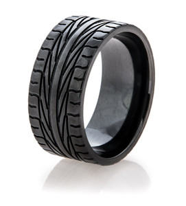 Men's Black Goodyear Assurance Tire Tread Ring 1