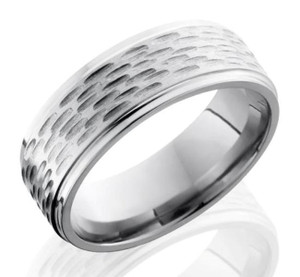 Gouged Titanium Ring