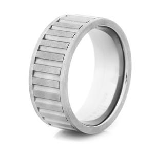 Men's Gunmetal Titanium Spinner Ring