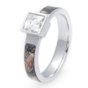 Square Diamond Camo Ring