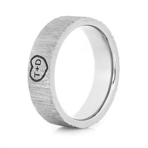 Ladies Treebark Heart Ring