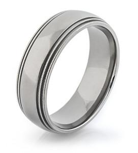 Milled Edge Titanium Ring