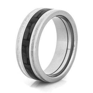 Milled Edge Carbon Fiber Ring