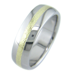 Microhammer Titanium Gold Band
