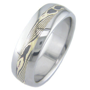 Gold Twist Shakudo Ring
