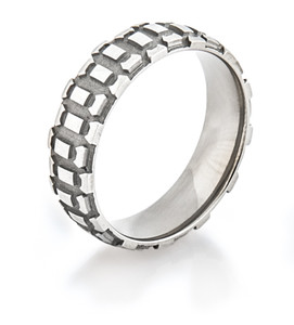 Men's Titanium Motorcycle Wedding Ring