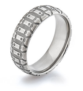 Men's Titanium Dirt Bike Ring