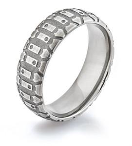 Men's Titanium Dirt Bike Ring