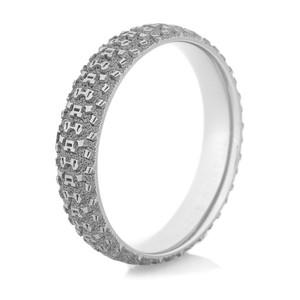 Men's Titanium Mountain Bike Wedding Ring