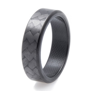 Narrow Forty Five Carbon Fiber Ring
