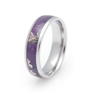 Women's Titanium Realtree AP Purple Camo Ring