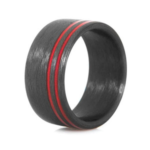 Red Line Carbon Fiber Ring
