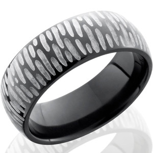 Textured Black Zirconium Ring