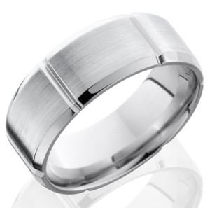 Men's Segmented Cobalt Ring