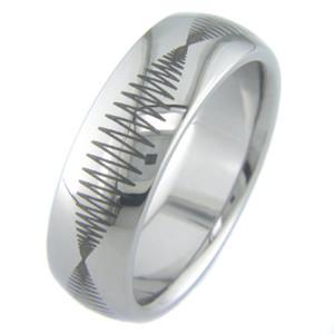 Seismic Titanium Laser Engraved Ring