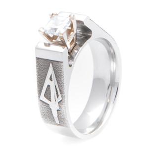 Women's Cobalt Chrome Broadhead Arrow Diamond Ring