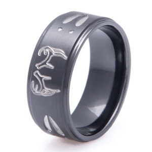 Step Down Two Tone Buck Ring