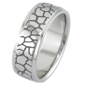 Straight and Narrow Path Titanium Ring